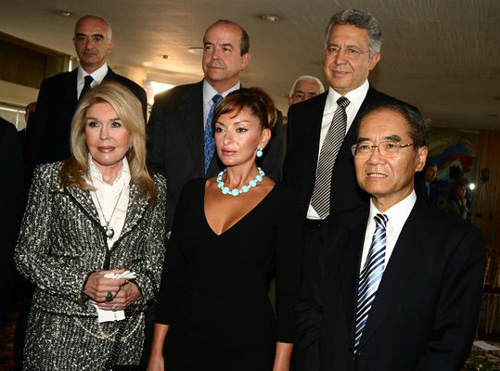 Nomination Ceremony Mrs Mehriban Aliyeva From Left Right